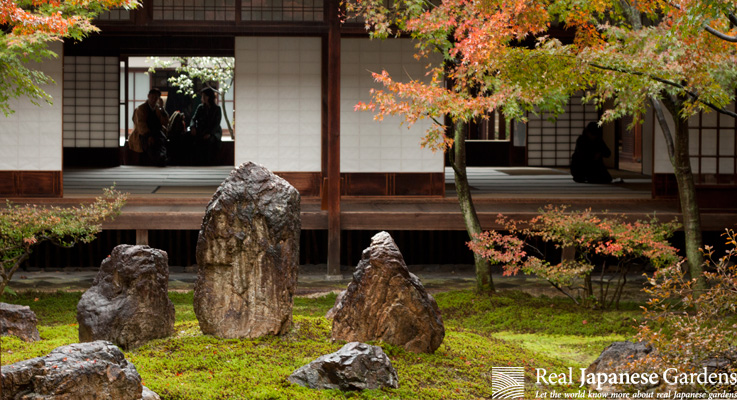 Stone Arrangement In The Japanese Garden Real Japanese Gardens